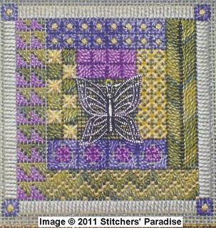NEEDLEPOINT BUTTERFLY GARDEN