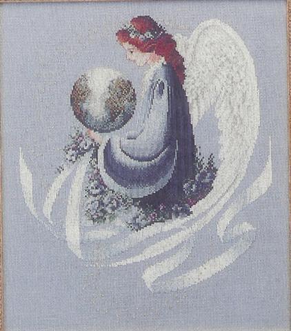 Ангел земли вышивка